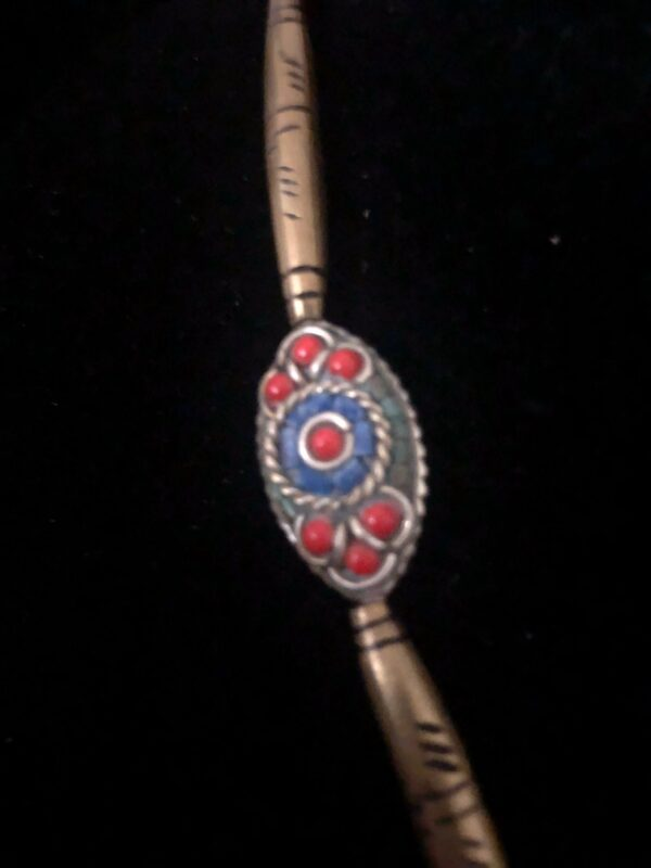 red and blue bead